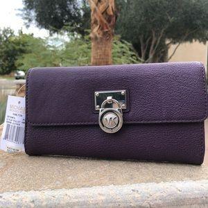 Michael Kors leather purple wallet